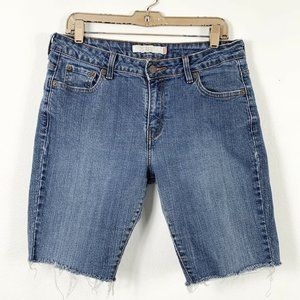Levis 15 Jean Shorts Cut Offs Medium Wash Denim